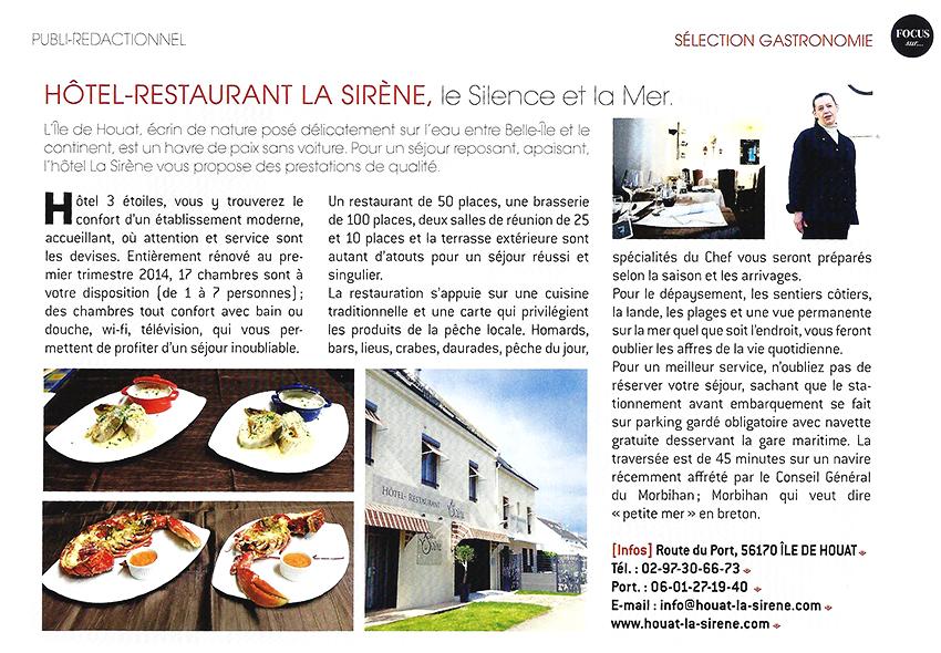Focus sur l'Hôtel La Sirène