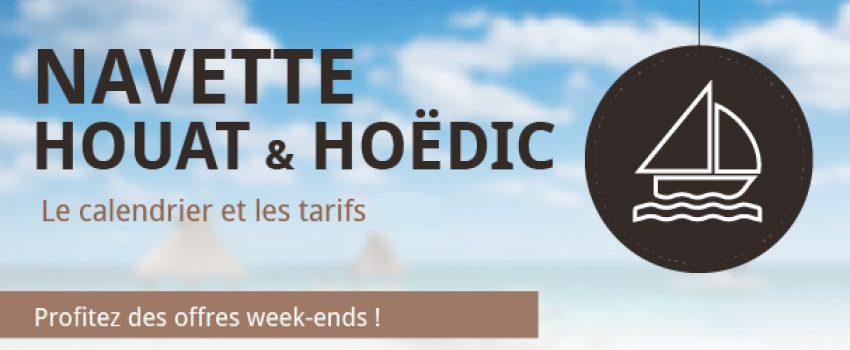 Calendrier 2018 : Navette Houat & Hoëdic