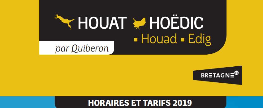 Calendrier 2019 : Navette Houat & Hoëdic
