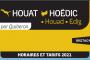 Calendrier 2021 : Navette Houat & Hoëdic